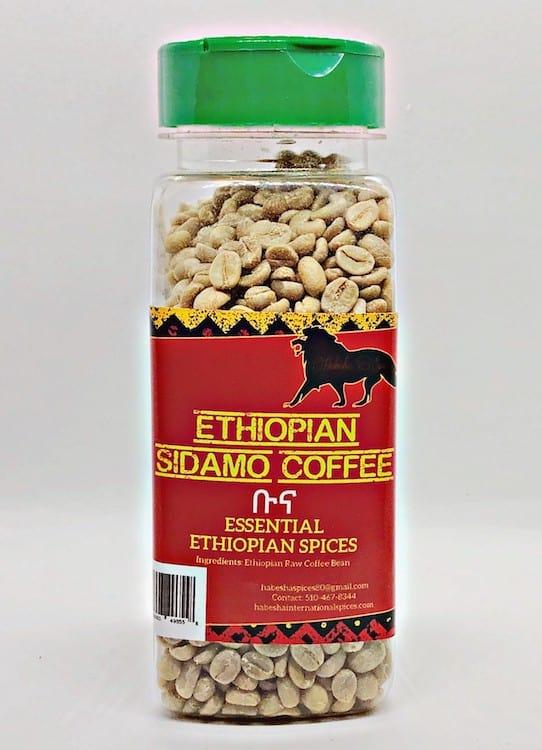 Ethiopian Sidamo Coffee in Jar