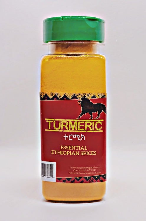 Ethiopian Turmeric Spice Product Jar Image